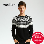 Westlink/West new national wind Zhihua 2015 winter Turtleneck sweaters sweaters men's sweaters