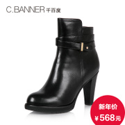 C.BANNER/for thousands of new 2015 winter cashmere leather strappy boots high heels shoes A5661422