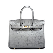 Ou Xuan winter Europe magazine crocodile pattern leather bags leather handbags in platinum wedding bride Kanetaka