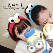 Korea genuine hair accessories Korean broadside cute duck plush headband tiara with big eyes a head band