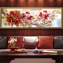 Sofa background wall decoration painting living room mural modern atmosphere hanging painting simple traditional Chinese painting Chinese style flowers blooming rich Peony
