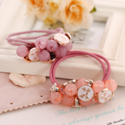 Know Richie fashion simple string Crystal beads ring Korea wild diamond rope band tiara hair accessories