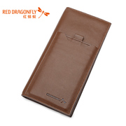 Red Dragonfly new authentic men's business casual wallet card header layer of leather the Korean version of wallet men