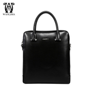 Fall/winter Wanlima/million 2015 new man bag leather square casual fashion solid color vertical Messenger bag