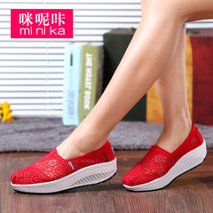 Microphone clicking fall 2015 lace shook New Korean version of platform shoes women shoes, platform shoes and leisure shoes