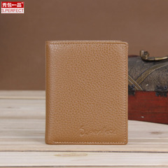 Show new men and women a first layer of leather business wallet slim wallet 2015 fashion leather jackets