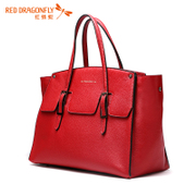 Red Dragonfly bag to secretly film women bag 2015 new fashion leather handbag