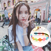 Know Richie headdress Korean sweet white Daisy flower hair with clean simple headband hairband hair accessories