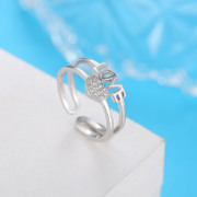 LAIRE/Larry silver love ring fashion jewelry live opening can be adjusted ornaments gift silver ring