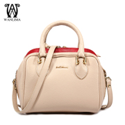 Wanlima/million 2015 winter new women leather fashion big names in Europe and America slung tote bags
