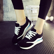 Fall 2015 platform plus breathable velvet sports shoes shoes with mixed colors Korean shoes student Forrest shoes wave