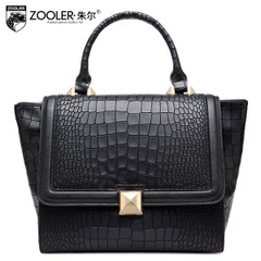 Lady Jules brand bags in Europe and new crocodile pattern leather handbag shoulder bag for fall/winter fashion trend