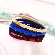 Know Richie Korean headdress woven flower hair accessories twist candy color high elastic band rope string