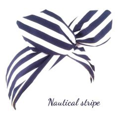 Europe and the old import Navy wind Navy gingham rabbit ears headband hair band