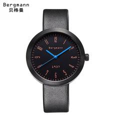 贝格曼Bergmann德国手表男皮带时尚潮流大表盘男表防水中性女表19