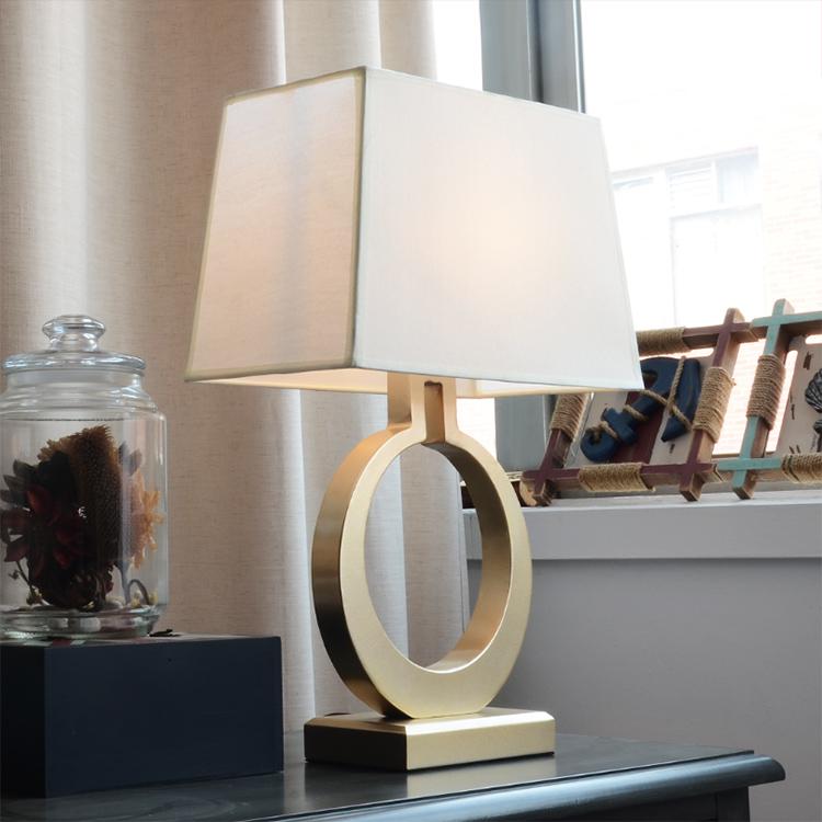 美式台灯卧室简约现代创意个性暖光床头柜北欧装饰婚房温馨床头灯-皇蒙艺术灯饰