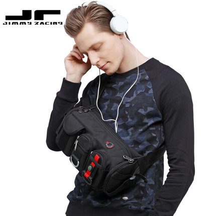 Men's Pouch Bag / Sling Bag JR F202N-BK For Casual Sports And Recreation