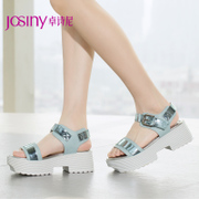 Zhuo Shini 2015 new style shoes with thick-soled platform shoes commuting t-strap high heel Sandals-152134050