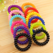Cool na Korean hair jewelry large telephone ring leather ring rope line elastic hair band 6070