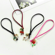 Korean version of the jewellery hair accessories hand-playing his first Christmas hair band fruit pendant ring rope string