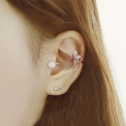 Cool na delicate Angel line of Korean jewelry rhinestones earrings Korean ear line 2245