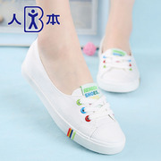 Korean men sneakers women summer light sets foot lazy white small white nurses shoes shoes leisure shoes