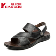 YEARCON/con men's sandals in summer 2015 new comfortable breathable leather dual-use casual men shoes