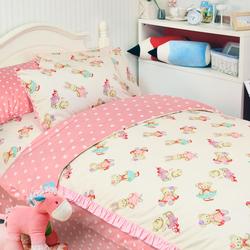 儿童床上用品四件套韩国小熊床品公主纯棉单人可爱卡通女孩三件套