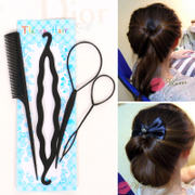 Know Connie hair salon hair suits wearing pins ball head braided hair bud head tools