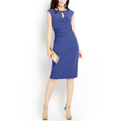 Poem t ~2015 spring summer water droplets graceful waist elastic fold commuter party dresses
