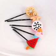 Know Richie Korean soft girl hair accessories clips cute soft germination clip candy fruit strawberry lemon clip