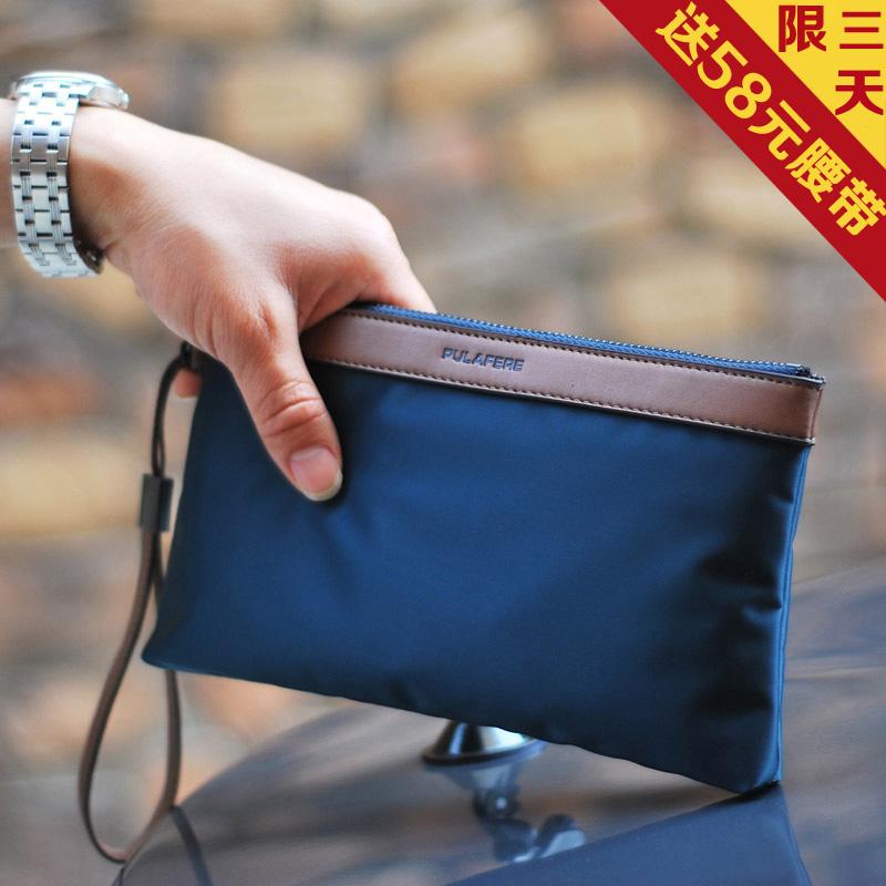 男士手包大容量手拿包韩版帆布包休闲男包手腕包手机包牛津布尼龙