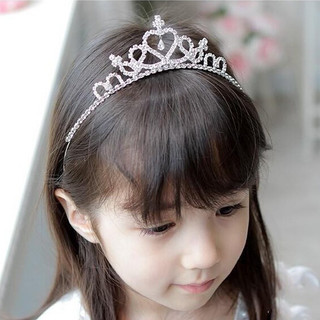 Open ornament Korea sweet girls Crown Princess headband child children''s hair accessories hairpin issuing Crown tiara
