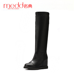 Name code 2015 winter season new wave increased within women's shoes boots flat heel long boots over the knee flat boots