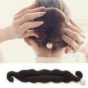 Know pro ball head of hair hair products hair tools Korea tiara hair accessories flower bud hair styling