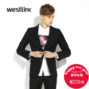 West-fall 2015 new men's fashion England vintage leisure simple form-fitting men's two-button suit jacket