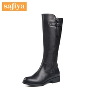 Safiya/Sophia 2015 winter new style leather round-headed high heel Western boots shoes SF54118709