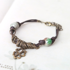 Handmade creative jewelry Crackle Bead Bracelet Chinese Jingdezhen ceramics retro jewelry