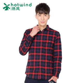 Hot winter men's Plaid Shirt men long sleeves Korean slim padded shirt top 02W5901