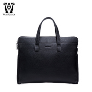 Wan Lima new men's brief case men's business bag handbag shoulder bag leather men cross