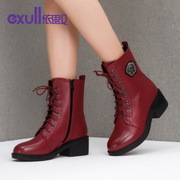 Exull/exull Q2015 new Martin short boots and winter boots with a short tube thick high heel women shoes 15186289