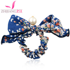 Rivers of Korea King size flower headdress bowknot Ribbon hair bands Korean rope string band hair jewelry