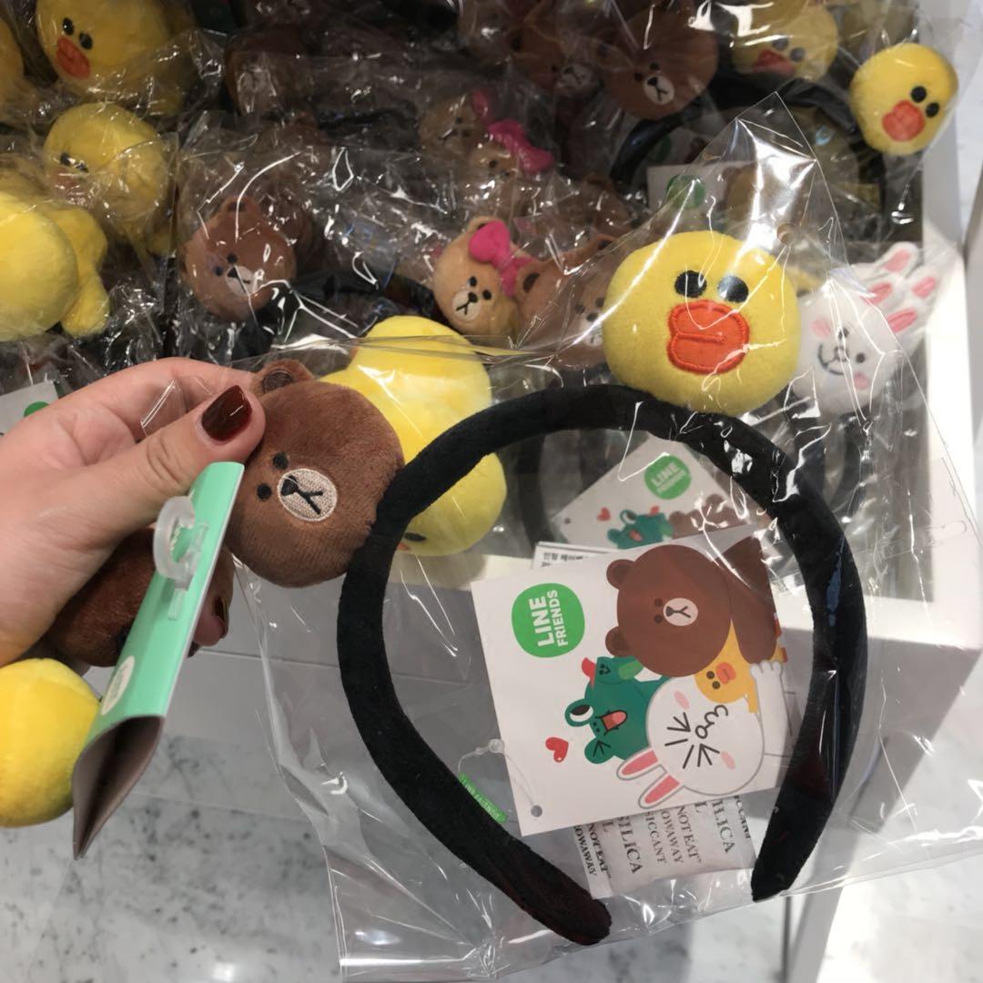 包邮韩国同款毛绒洗脸必用卡通萌物发箍小熊可爱小兔发卡网红头箍