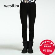 Westlink/West New 2015 winter outer wear and cashmere thick black leggings skinny ladies trousers