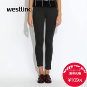 Westlink/West fall 2015 the new pure color outside the ladies ' knitted stretch leggings to wear casual pants