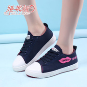 Yalaiya new lip canvas shoes low cut shoes student casual shoes the Korean version of Joker trend shoes