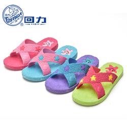 回力浴室拖鞋女夏家居一字拖鞋室内外防滑平底舒适拖鞋沙滩鞋女