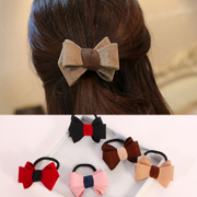 Know Richie Korean hair butterflies made his first rope ring cute hair band hair flower head band ponytail tie string