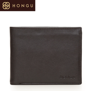 Honggu Valley Red suede leather 2015 new men's contrast color wallet 6003