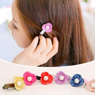 Know Connie hair accessories Korean version of pearls small hairpin duck with sweet flowers clip bangs clip hairpin jewelry